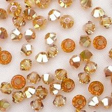3mm Swarovski 5328 Xilion Metallic Sunshine - 10